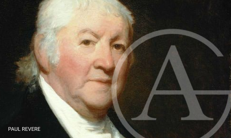 Portrait of Paul Revere - one of 6 famous dentists discussed here.